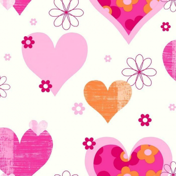 HAPPY HEARTS Pink Orange 533605