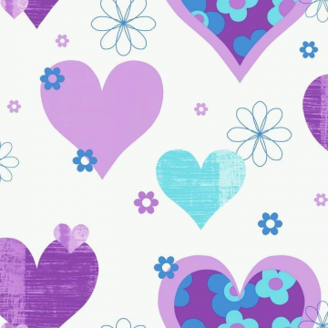 HAPPY HEARTS Purple 533702