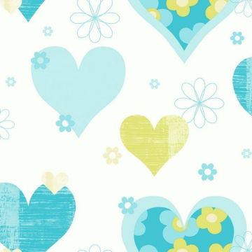 HAPPY HEARTS Teal Green 533705