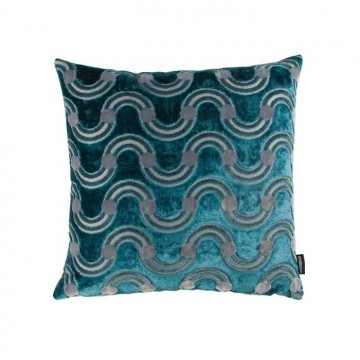 KDC5160-02 SPOT-ON-WAVES-CUSHION-TEAL
