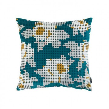 KDC5170-05 PEG-ART-ROSES-CUSHION-TEAL
