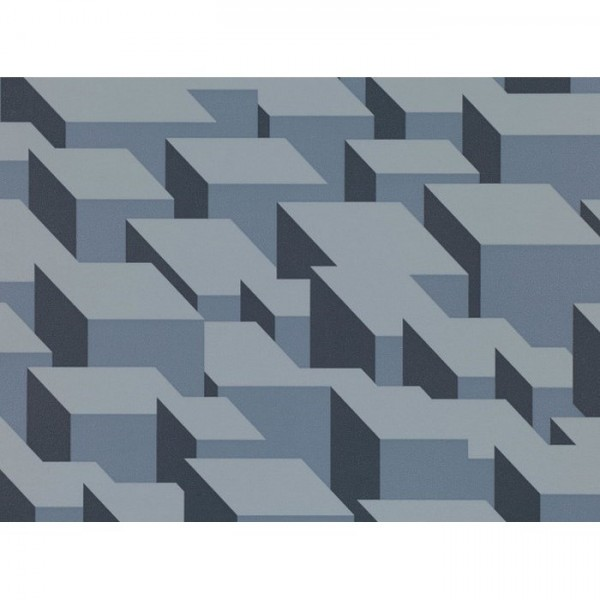 WK800-01 CUBIC-BUMPS-WALLCOVERING-STEEL
