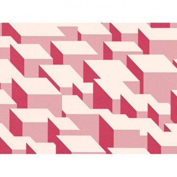 WK800-05 CUBIC-BUMPS-WALLCOVERING-BLUSH