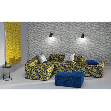 WK800-04 CUBIC-BUMPS-WALLCOVERING-SUNSHINE