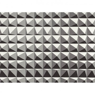 WK801-03 DOMINO-PYRAMID-WALLCOVERING-MONOCHROME