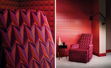 WK801-05 DOMINO-PYRAMID-WALLCOVERING-CRIMSON