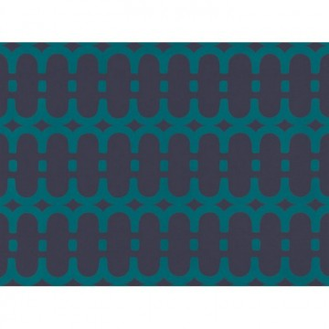 WK804-06 LOOPY-LINK-WALLCOVERING-TEAL