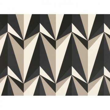 WK806-03 ORIGAMI-ROCKETS-WALLCOVERING-BISCUIT