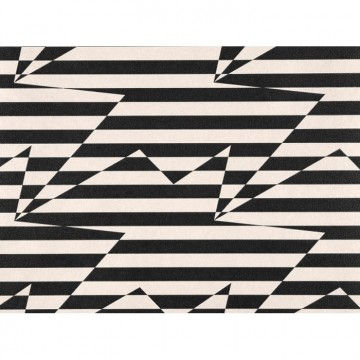 WK809-03 STRIPEY-ZIG-ZAG-BIRDS-WALLCOVERING-MONOCHROME