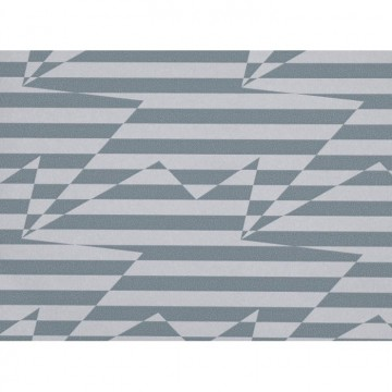 WK809-04 STRIPEY-ZIG-ZAG-BIRDS-WALLCOVERING-STEEL