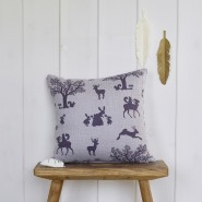 Enchanted Wood Cushion - Lilac