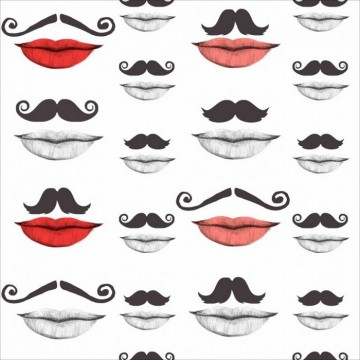 MOUSTACHE AND LIPS WP20084
