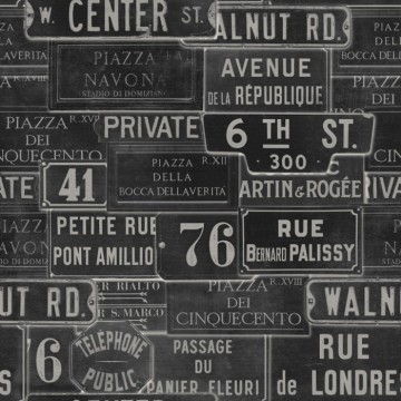 VINTAGE SIGNS ANTHRACITE WP20037