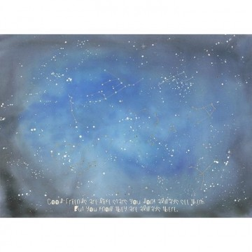 6100064 COUNTING STARS MURAL