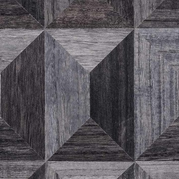 4261 COFFERED WOOD - CHARCOAL FACET
