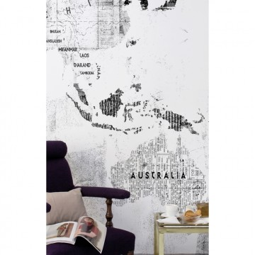 6500107 NEWSPAPER MAP WHITE