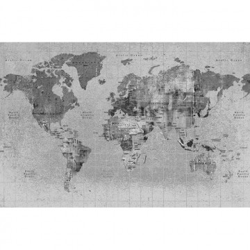 6500108 NEWSPAPER MAP BLACK
