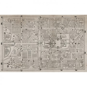 6800303 OLD BEIGING MAP PAPYRUS