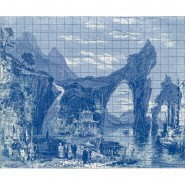 6800607 ILLUSTRATION TILES INDIGO