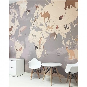 Animals World Map I