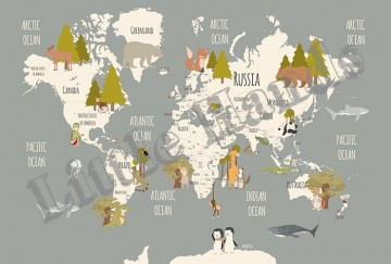 Animals World Map III