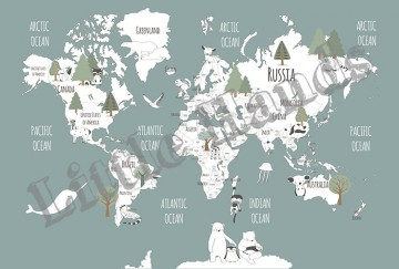 Animals World Map V