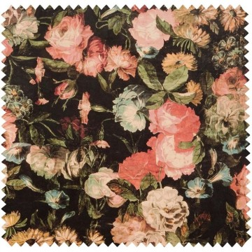 MIDNIGHT GARDEN VELVET - MULTI