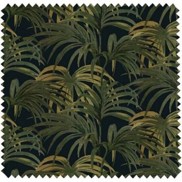 PALMERAL COTTON-LINEN - MIDNIGHT-GREEN