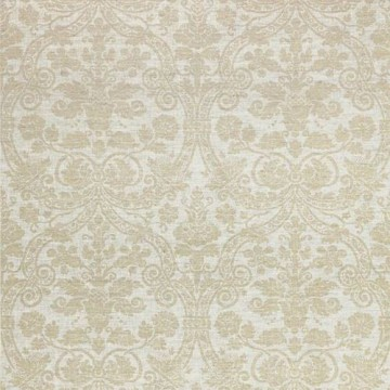 T1004_Metallic Gold on Natural CURTIS LINEN DAMASK