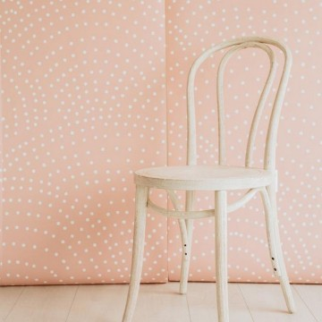 CRESCENT POLKA DOTS MURAL ROSE