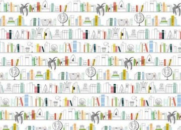 LEO'S LIBRARY MURAL