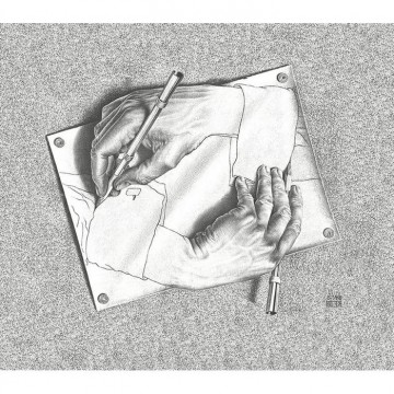 23185 DRAWING HANDS