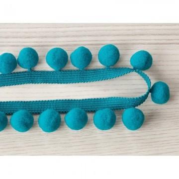 T79 03 pom pom braid turquoise