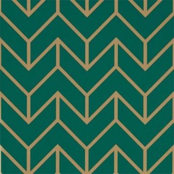 Tessellation Teal-Gold 111985