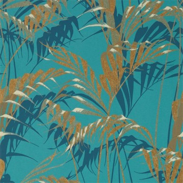 PALM HOUSE DGLW216640 Teal/Gold