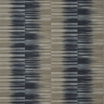 Mekong Stripe T10089 Charcoal and Taupe