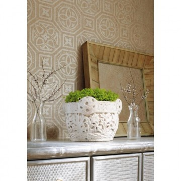 Alexander NR T10001 Metallic Pewter on Beige