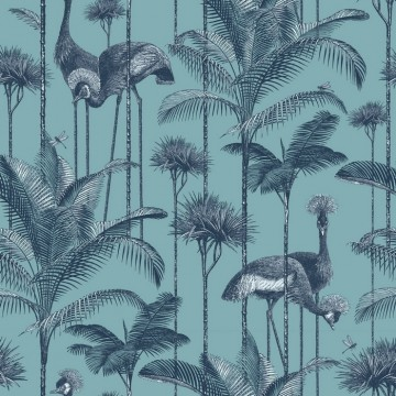 Crane Fonda Palm Blue DVS013