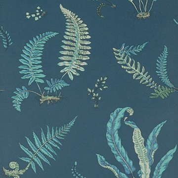 Ferns Indigo Teal BW45044.9
