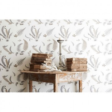 Ferns Dove Grey Silver BW45044.4