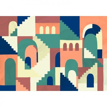 Mural Architopie - Vivid 8000073