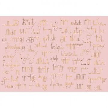 Mural Beautiful Words - Flamingo 8000039