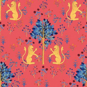 Medieval Tapestry Deep Coral 8000013