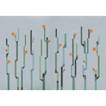 Mural Flor de Cactus - D¡a 8000054