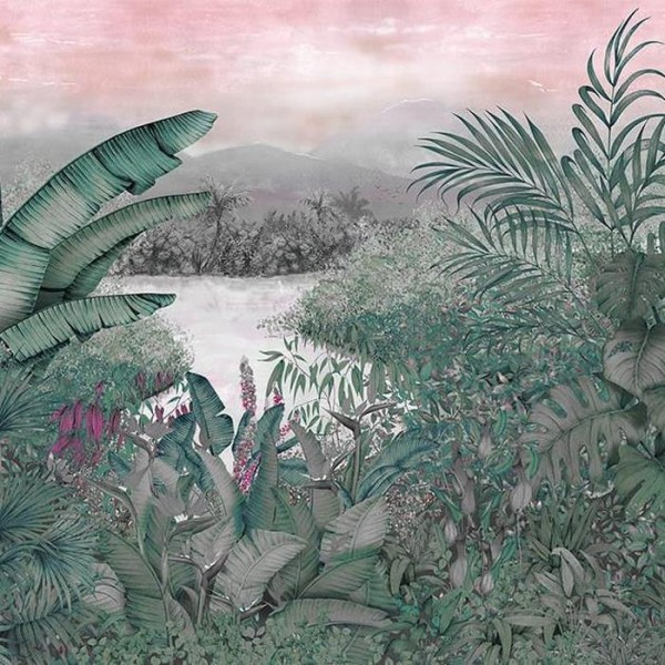 Mural Neo colonial Pink 8800112