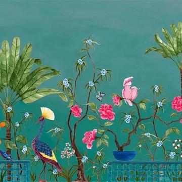 Mural Neo Tea Garden Green 8800132