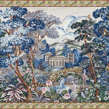 Mural Tapestry blue 8800141