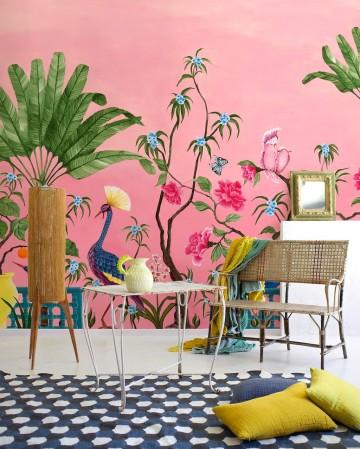 Mural Neo Tea Garden Pink 8800130