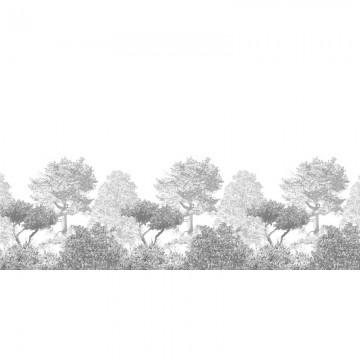 Classic Hua Trees Mural Wallpaper Grey