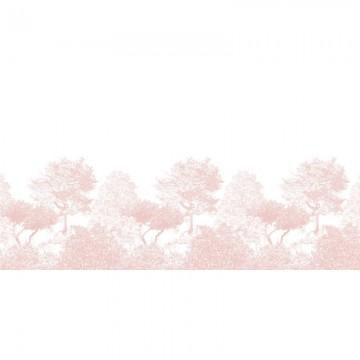 Magnetic Classic Hua Trees Mural Wallpaper Pink